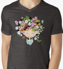 Cute girl with floral hairstyle T-Shirt