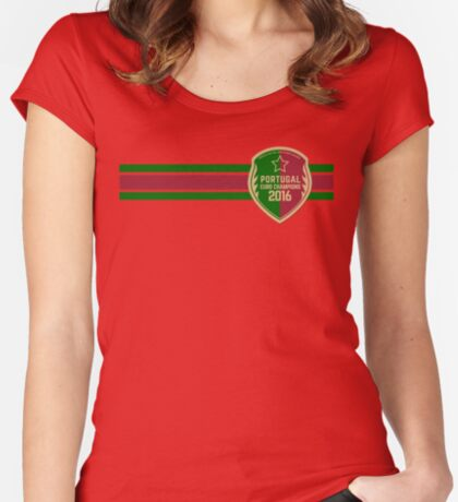 Portugal Euro 2016 Champions ID-9 Women's Fitted Scoop T-Shirt