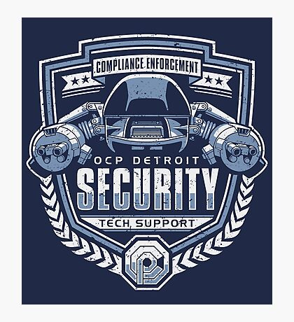 ED-209 - OCP Detroit Security - Tech Support Photographic Print