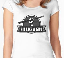 Drummer girl Women's Fitted Scoop T-Shirt