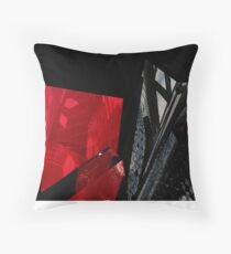 Rouge et noir Throw Pillow