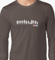Vintage STAR WARS 12 Back Palitoy Style Action Figures Long Sleeve T-Shirt