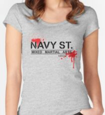 NAVY STREET MMA BLOOD Women's Fitted Scoop T-Shirt