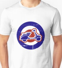 Aged Mod Target and scooter logo Unisex T-Shirt