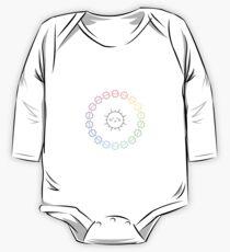 Rainbow Sun Ring One Piece - Long Sleeve