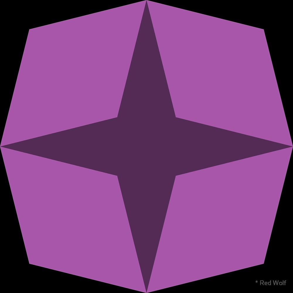 Geometric Pattern: Diamond Star: Dark Purple by * Red Wolf