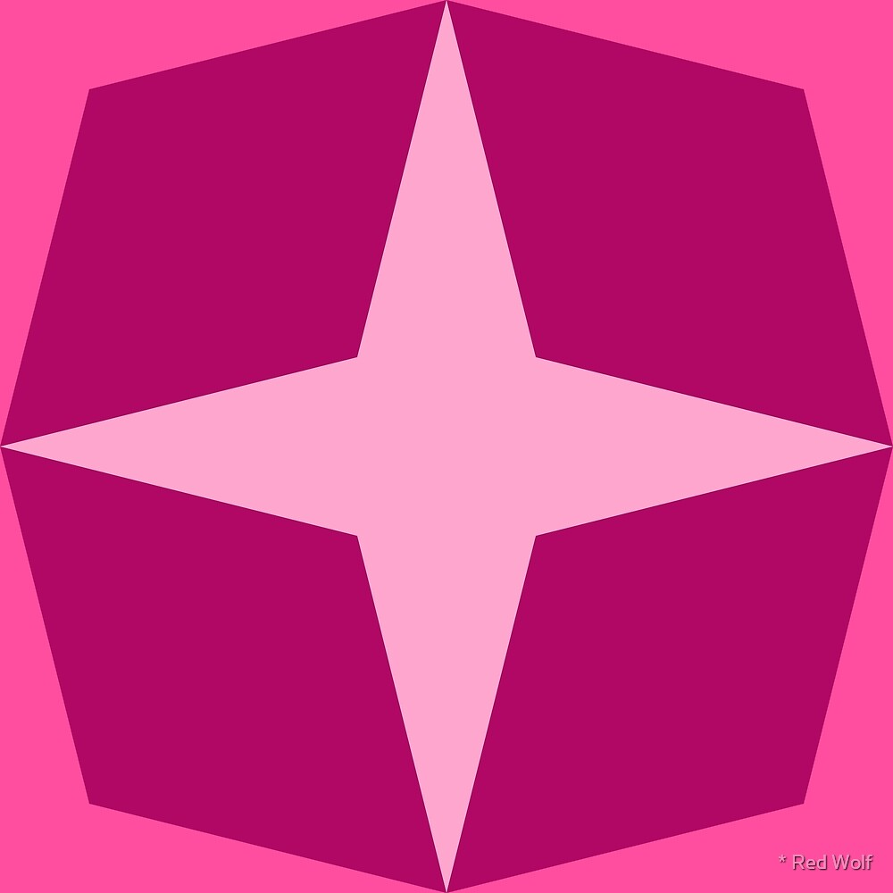 Geometric Pattern: Diamond Star: Berry by * Red Wolf