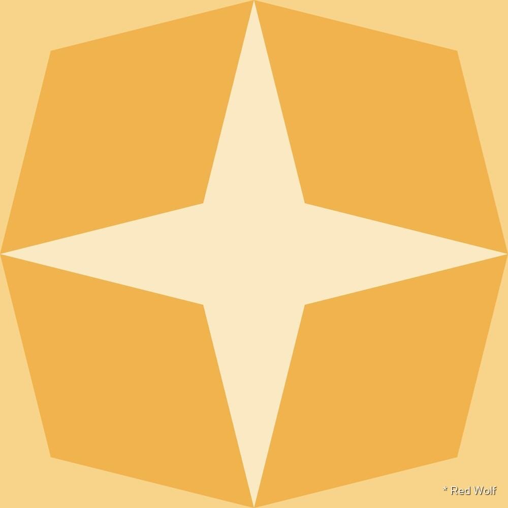 Geometric Pattern: Diamond Star: Lemon by * Red Wolf