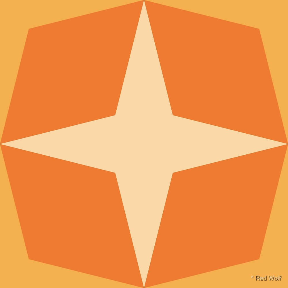 Geometric Pattern: Diamond Star: Citrus by * Red Wolf