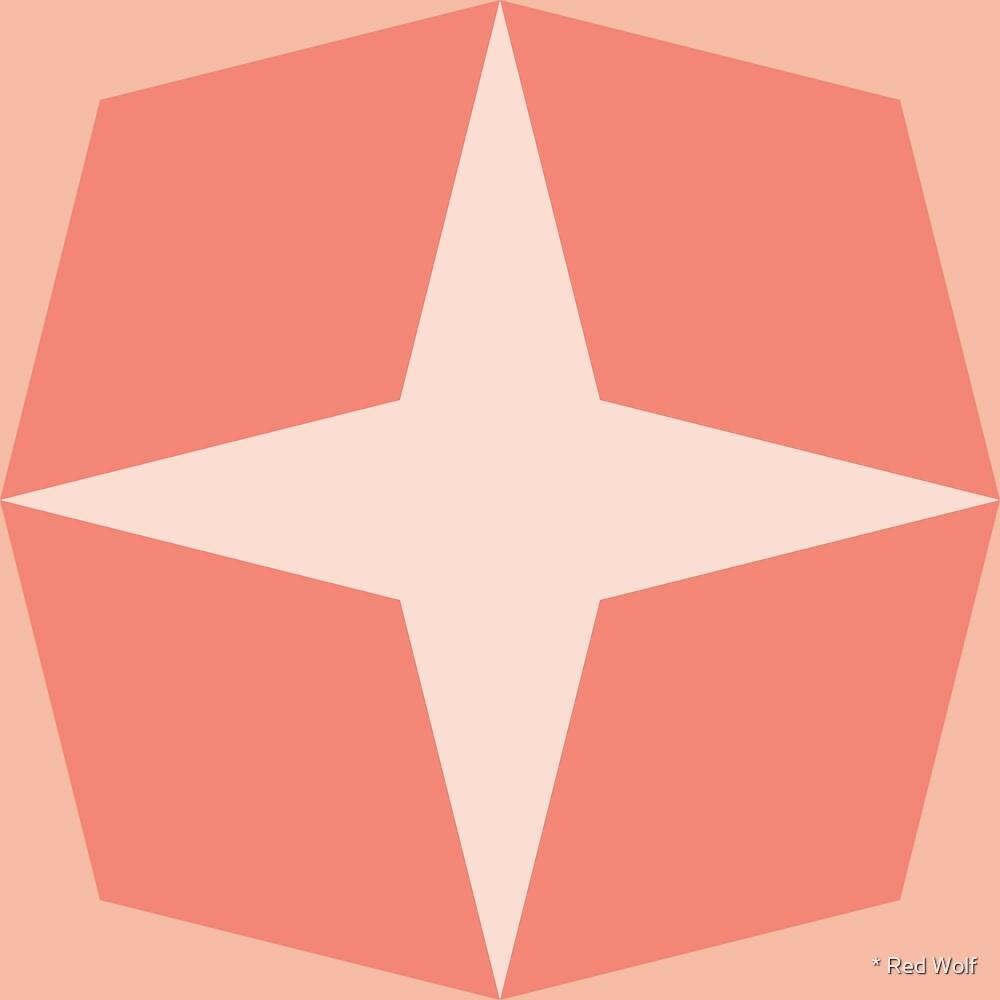 Geometric Pattern: Diamond Star: Salmon by * Red Wolf