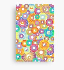 party poppers. Canvas Print