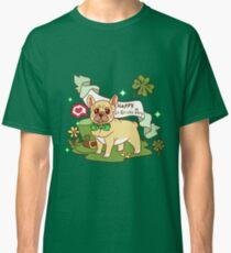 St. Patrick's Day French Bulldog  Classic T-Shirt