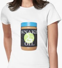 UniquePublications: SNAKE OIL Womens Fitted T-Shirt
