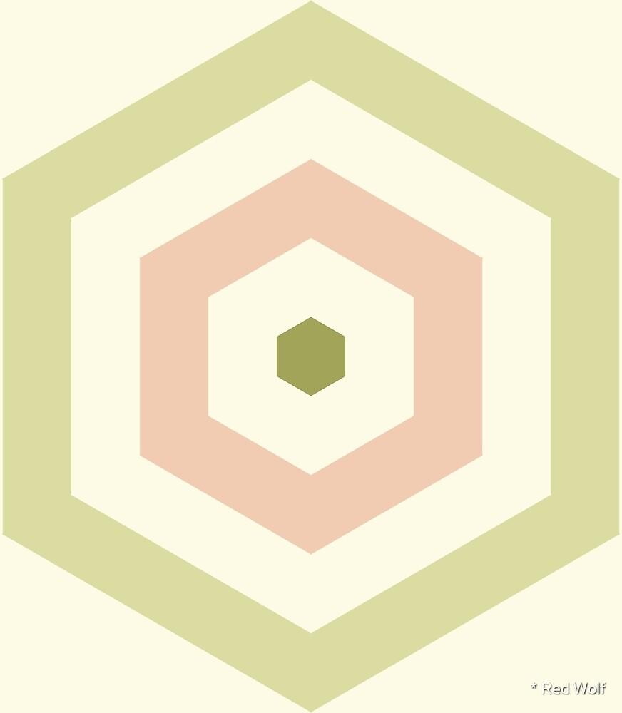 Geometric Pattern: Hexagon Hive: Dawsonia by * Red Wolf