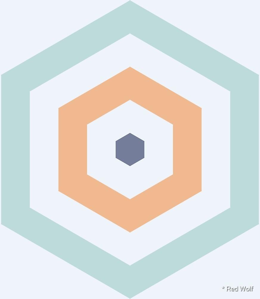Geometric Pattern: Hexagon Hive: Gulfstream by * Red Wolf