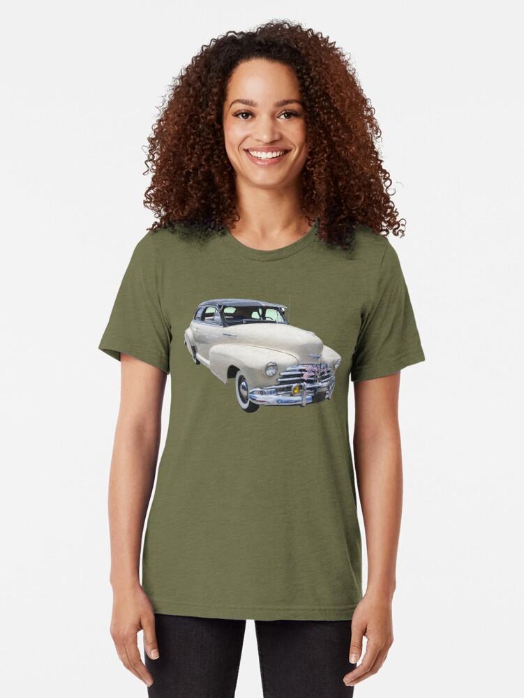 Vista alternativa de Camiseta de tejido mixto 1948 Chevrolet Fleetmaster Antique Car