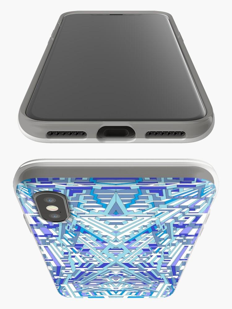 Alternative Ansicht von Deep Blue Three iPhone-Hülle & Cover