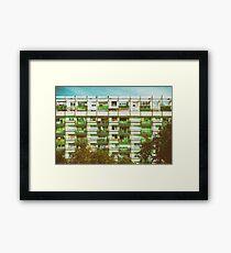 Communist Building Apartments Framed Print