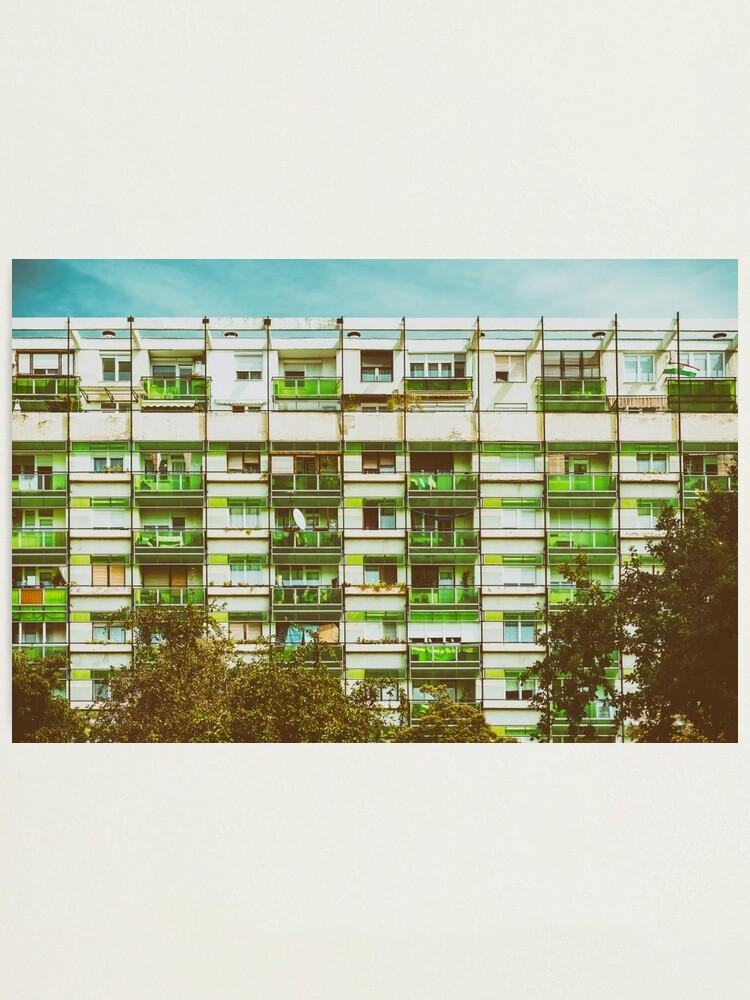 Alternate view of Communist Building Apartments Photographic Print