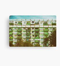 Communist Building Apartments Canvas Print