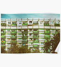 Communist Building Apartments Poster