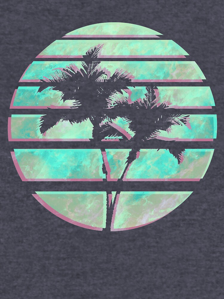 Vaporwave Palm Trees in the Sun - Blue by Alheak