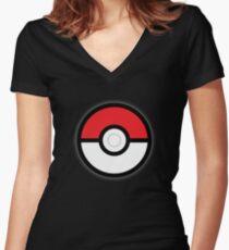 Pokéball Women's Fitted V-Neck T-Shirt