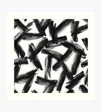 Gouache brush strokes #3 Art Print
