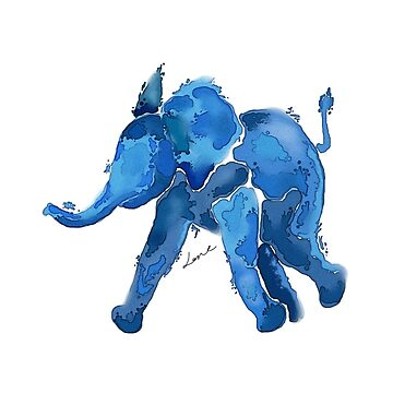 Digital watercolor elephant by taechnique