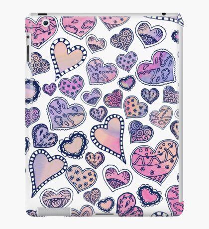 Hippie hearts - Pink iPad Case/Skin