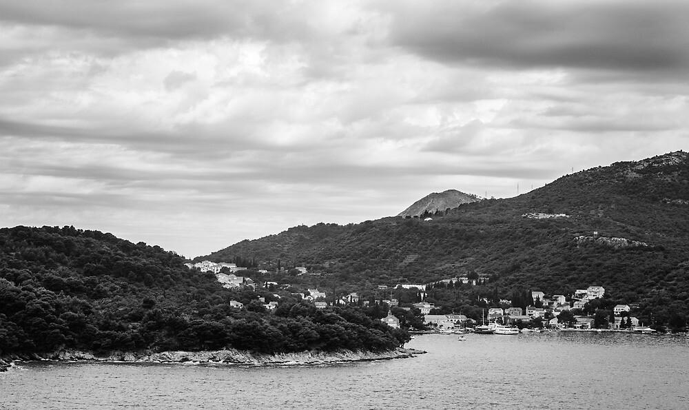 Dubrovnik Landscape BW by Matti Ollikainen
