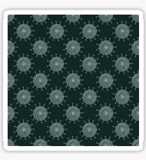 White doodle flower on black background. Simple seamless pattern. Hand drawn wallpaper.  Sticker