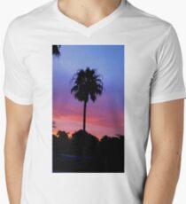 Lonely Sunset Palm Tree Men's V-Neck T-Shirt