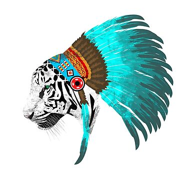 Abstract Tiger Chief by Imaginals