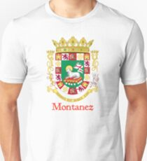 Montanez Shield of Puerto Rico T-Shirt