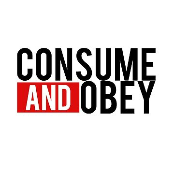 Consume and Obey Logo Basic Red by jamieroach