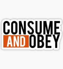 Consume and Obey Logo Basic Orange Sticker