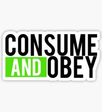 Consume and Obey Logo Basic Green Sticker
