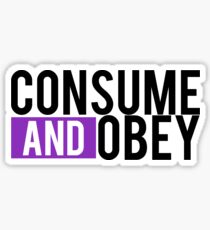 Consume and Obey Logo Basic Purple Sticker