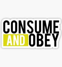 Consume and Obey Logo Basic Yellow Sticker
