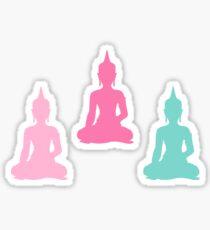 Pastel Buddhas Sticker