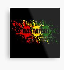 Rastafari Metalldruck