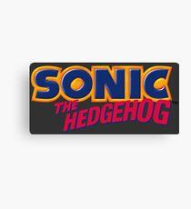 SEGA Sonic the Hedgehog LOGO Canvas Print