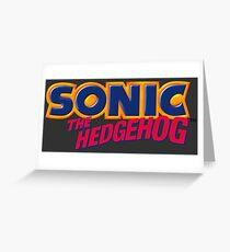 SEGA Sonic the Hedgehog LOGO Greeting Card