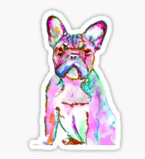 The Fantastic frowning Frenchie by Oscar Jetson Sticker