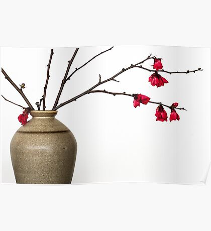 Vase With Japonica Poster