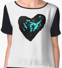 blue heart Chiffon Top