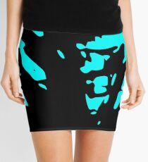 blue heart Mini Skirt