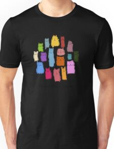 Colorful funny cats Unisex T-Shirt