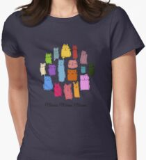 Colorful funny cats Womens Fitted T-Shirt